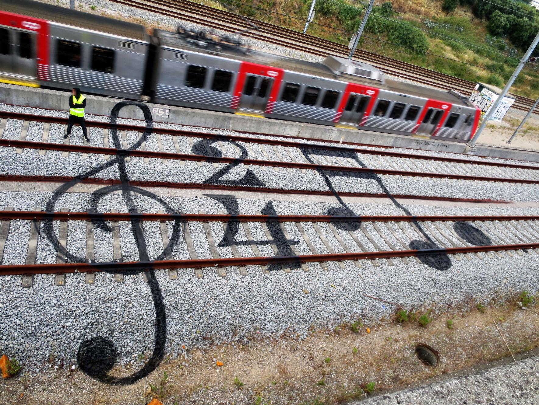 Railway Artwork by Bordalo II