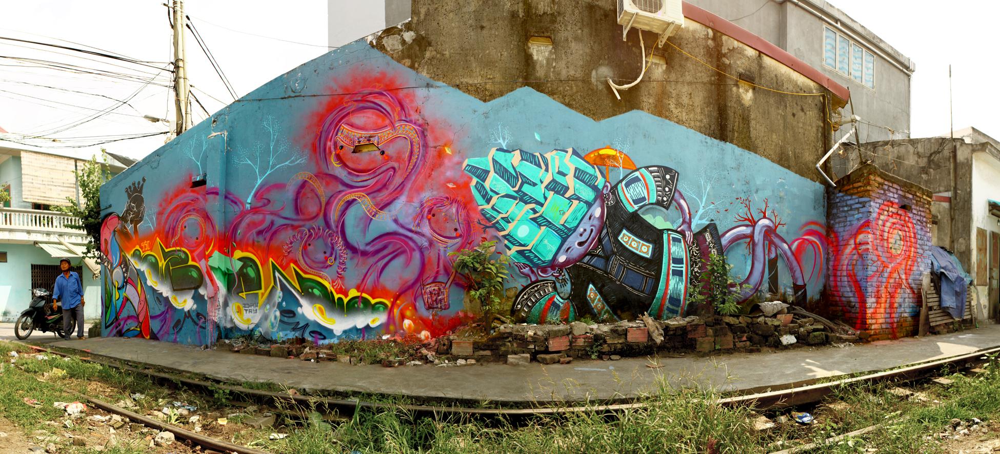 Street Art Tour in Vietnam by Liar Ben & Sautel Cago