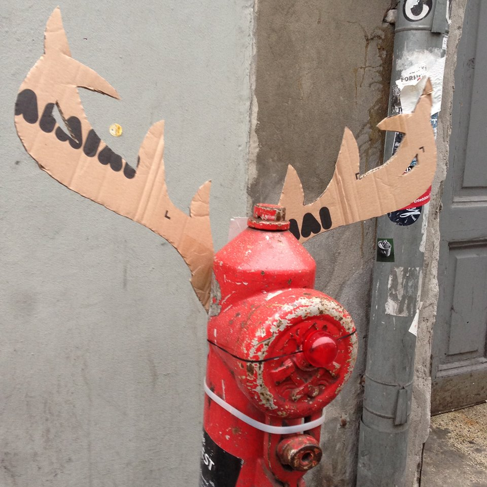 Wooster Collective: Holiday Hydrant Takeover