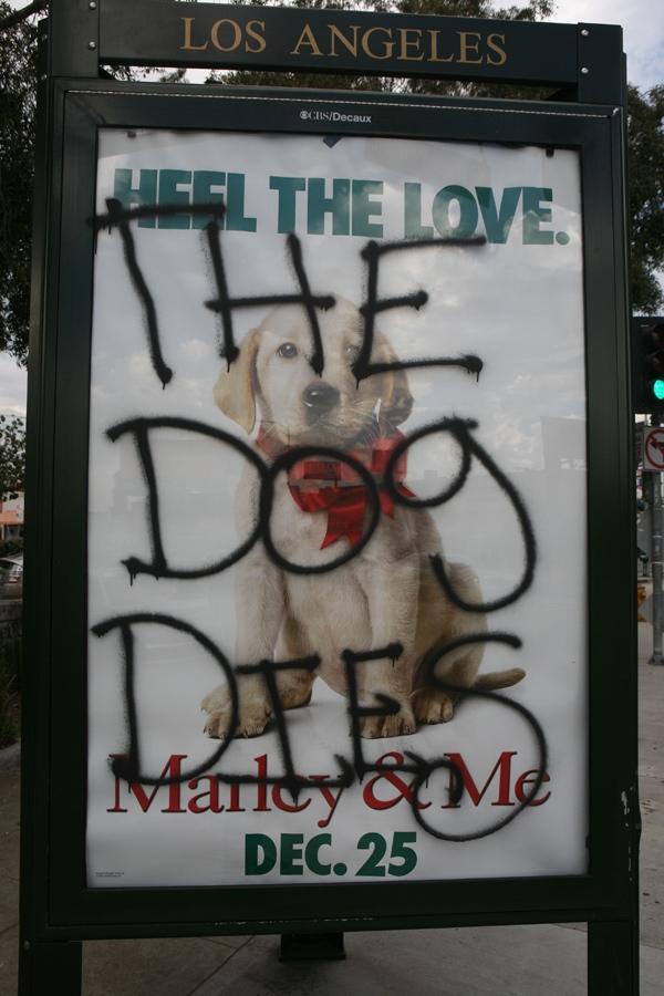 The dog dies movie spoiler graffiti hits los angeles wooster
