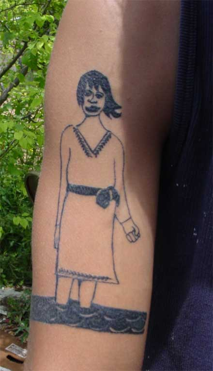 Do you have a tattoo of an image by a contemporary artist?