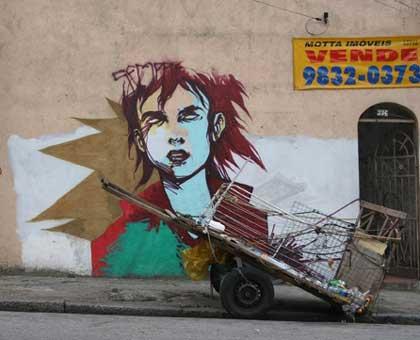 graffitis en brasil muy bueno