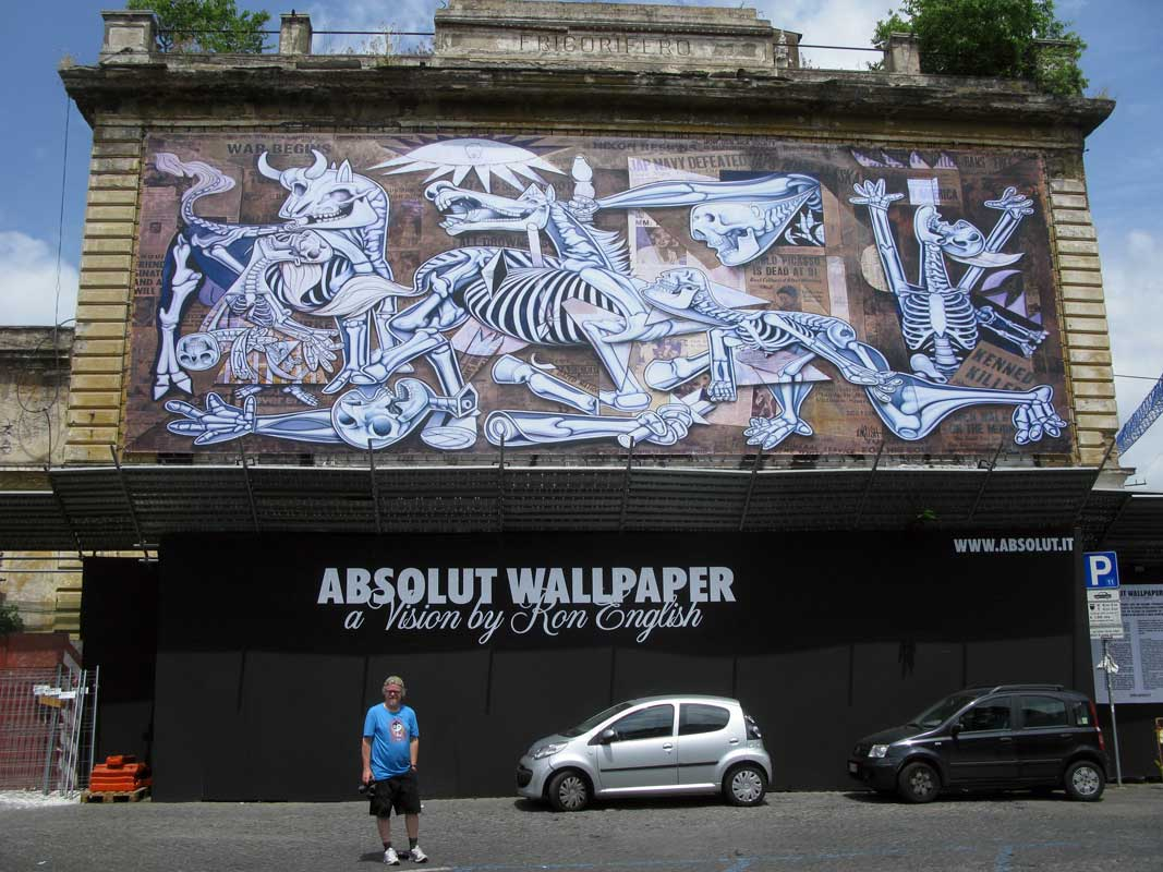 "Ron English's ""Absolut Wallpaper"" in Milan and Rome"