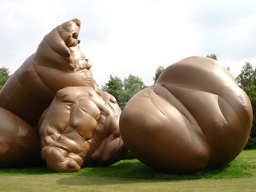 Giant inflatable turd